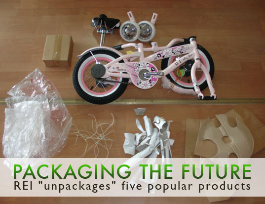 packaging the future, eco packaging, reducing packaging, green packaging, packaging waste, reducing packaging waste, packaging alternatives, no packaging products, zero waste packaging, REI, rei design, rei company
