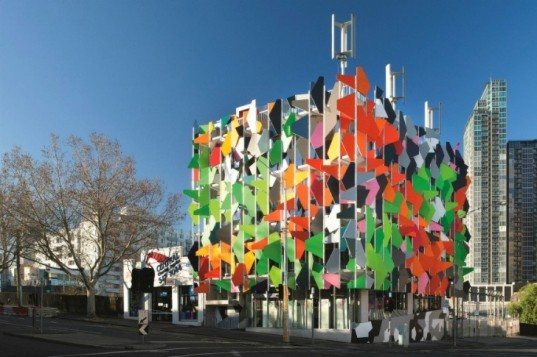 Pixel Building, Studio505, melbourne, australia's first carbon neutral building, carbon neutral, pixelated facade, water neutral
