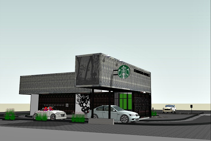 Reclamation Drive Thru Starbucks Inhabitat Green Design Innovation Architecture Building