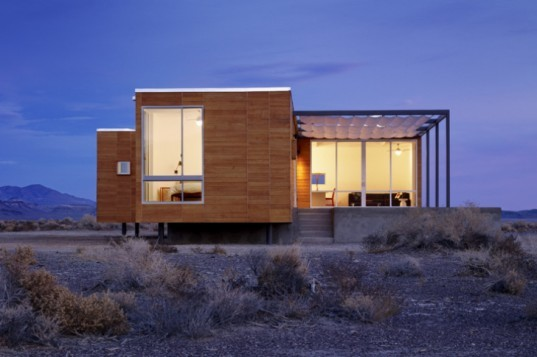 Rondolino Residence, Nottoscale, desert architecture, prefab home, prefab, nevada, energy efficient home