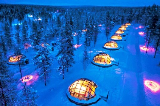 Top 8 Winter Resorts, winter wonderland, winter, winter resort, eco winter resort, eco resort, eco toursim, Kakslauttanen Igloo Village