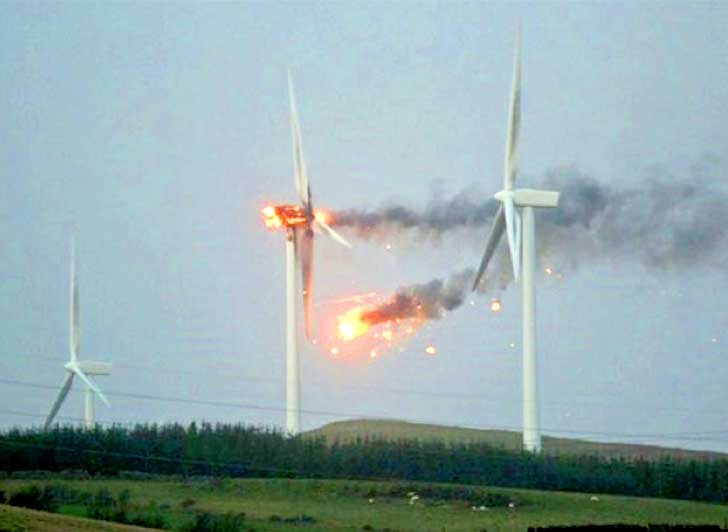 Wind Turbine In Scotland Bursts Into Flames During