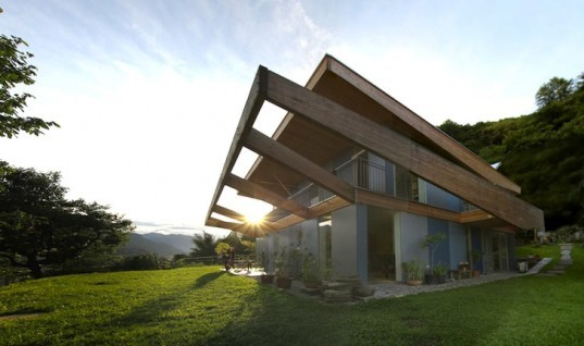 Designyougo, Casa Locarno, solar power, solar thermal storage, Skyframe, natural light, daylighting, green design, sustainable design, eco design, underfloor heating, insulation, Lake Maggiore