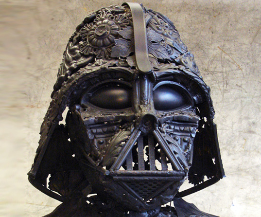 French Artisan Takes Recycled Metal to the Dark Side with this Awesome Darth Vader Bust