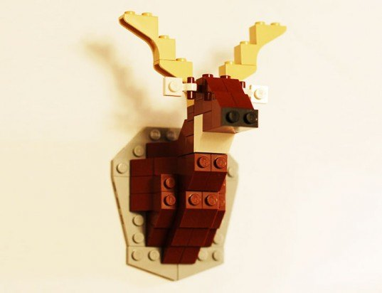 Davide Cole, Taxidermy LEGO Deer Head, lego animals, lego sets, lego animal sets, green taxidermy, eco taxidermy, green dear head, eco deer head, lego deer head, lego taxidermy, lego sculptures