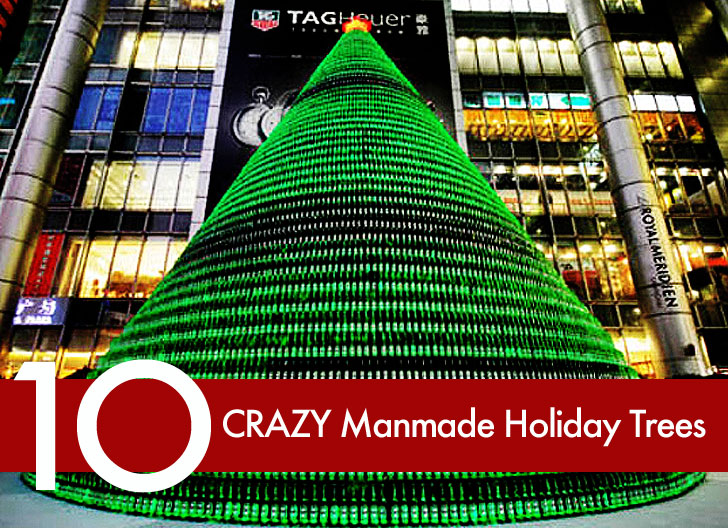 crazy, articfial, eco, sustainable, man made, alternative, trees, holiday, christmas, winter, decorations, recycled, upcycled