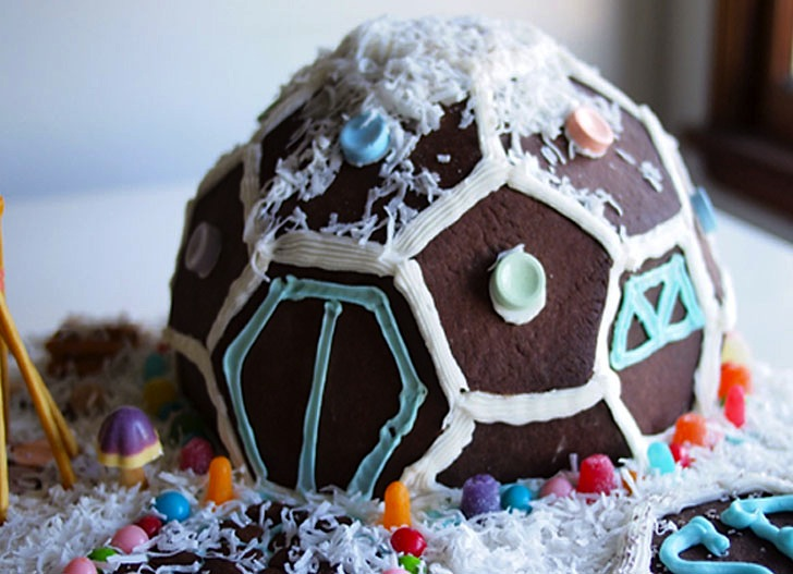 Diy how to make an awesome gingerbread geodesic dome house diy how to make an awesome gingerbread geodesic dome house solutioingenieria Images