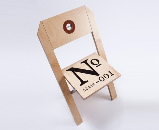 folding chair, la firme, montreal, wooden chair, label chair, customizable seat, russian birch chair