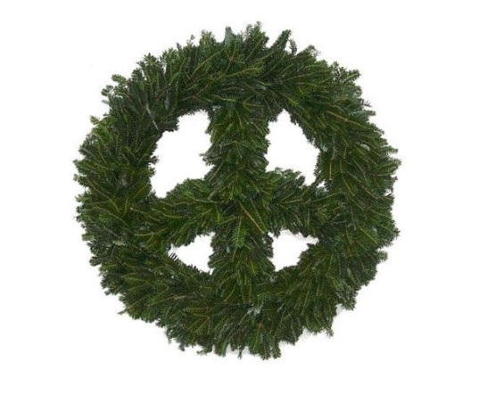 peace wreath, diy wreath, make your own wreath, how to make a wreath, peace signs, peace decorations, eco holiday decorations, diy holiday decora