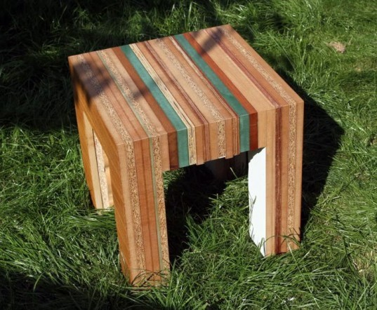 tristan titeux, re-cut furniture, salvaged wood, recycled wood, recycled materials, sustainable design, green design, recycled wood off-cuts, green furniture, green products, sustainable furniture