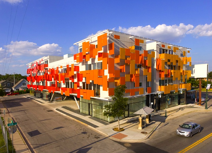 Bercy Chen S East Village Is A Bright Orange Mixed Use