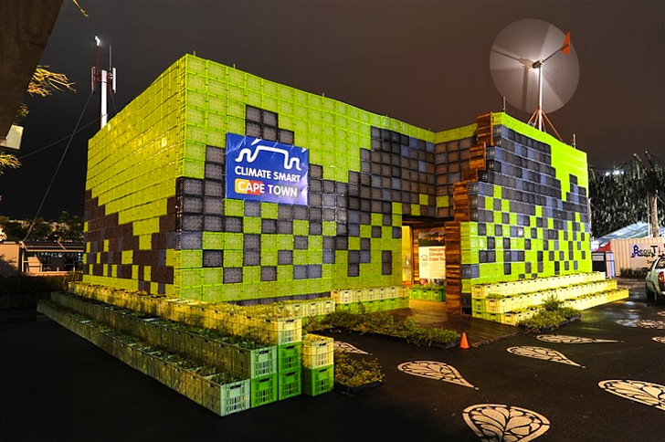 Climate Smart Cape Town S Cop 17 Pavilion Is Made Of 1 884