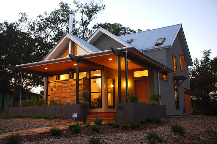 Leed Home gabled leed platinum newcomer house in georgia cost just $125 per