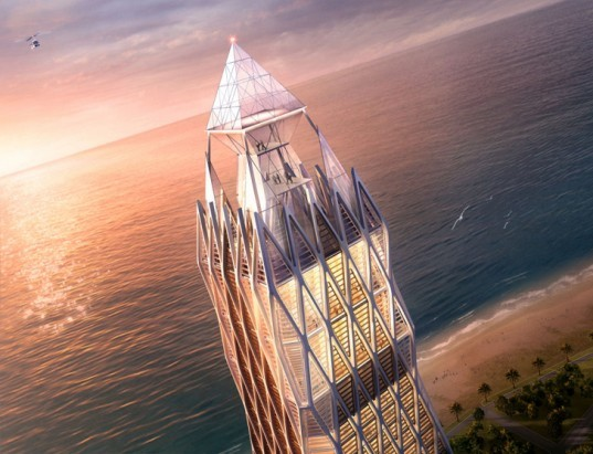 green design, eco design, sustainable design, Georgia, Batumi, helioport, Ad Astra Building, Greater Caucasus Mountains, Atkins Design