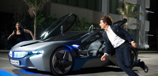 Bmw S I8 Hybrid Electric Sports Car Saves The World In Mission