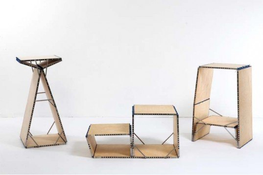 Interactive Objects,green furniture,israeli design,all in one furniture,loop,transformable furniture