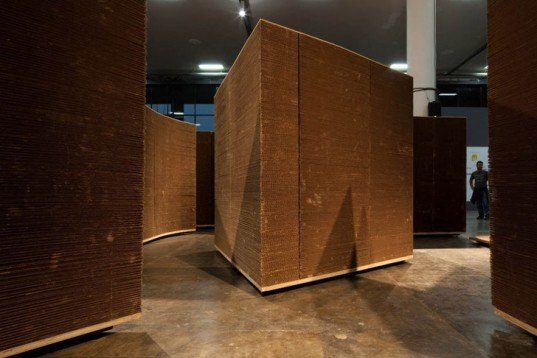 Recycling / Compost,Recycled Materials,Art,layered cardboard,recycled cardboard installation,brasilian design,sao paulo biennale,flexible space