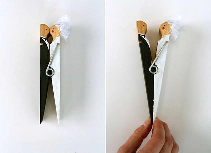 DIY Clothespin Wedding Cake Topper Inhabitat Green Design Innovation Architecture Building