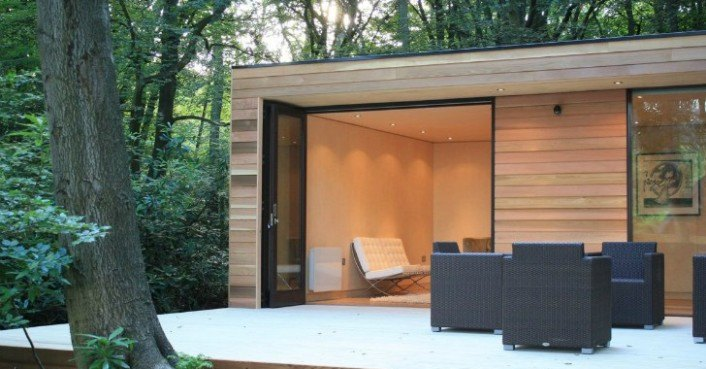 In It Studios Prefab Garden House Is A Modern Small Space Tucked Away In The Forest