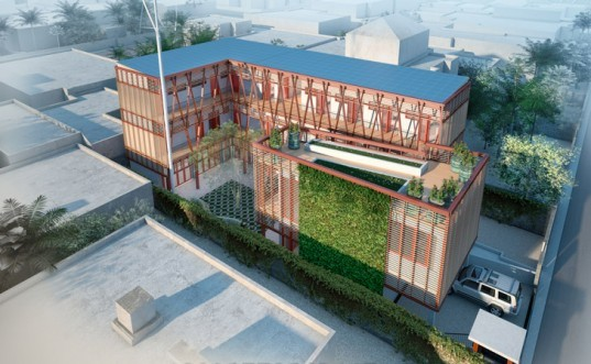HOK, hok architects, U.S. Green Building Council, Project Haiti, LEED Platinum, architecture disaster relief, humanitarian efforts, humanitarian design , Port-au-Prince orphanage and children's center,haiti 2010 earthquake, Fondation Enfant Jesus orphanage and children's center, passive design principles, net zero water and waste building, bio-digester, biomimicry, USGBC