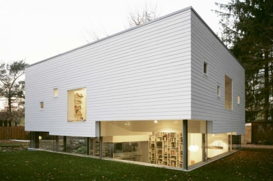 Haus W, Kraus Schönberg Architects, sunken house, energy efficient house, hamburg