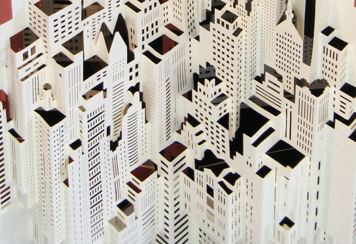 ingrid siliakus creates intricately layered architectural models
