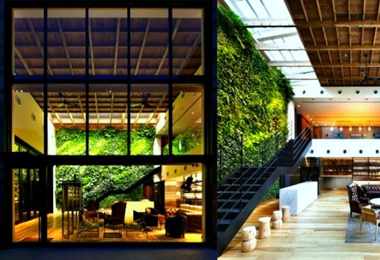 6 luscious living vertical gardens bring a breath of fresh for Interior garden