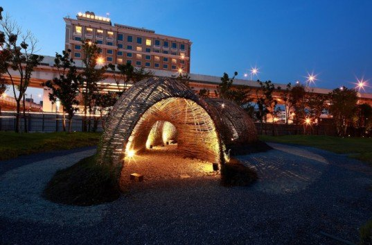 green design, eco design, sustainable design, Marco Casagrande, Cicada, Taipei, Taiwan, Bamboo structure, cocoon like structure, organic architecture, sustainable architecture