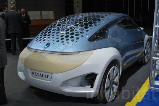Renault electric production car,quickdrop battery, electric concept car, French electric car,Renault Zoe Z.E., swappable battery, electric car, dueal gull wing doors, Renault electric car,