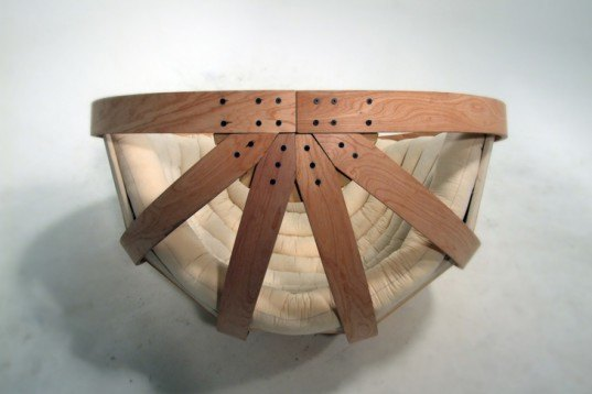 cocoon chair, autistic people, autism, plywood, rocking chair, Victoria University of Wellington, cold-bending wood, cradle, wooden seat, Sustainable Materials, social design, Green Materials, green furniture
