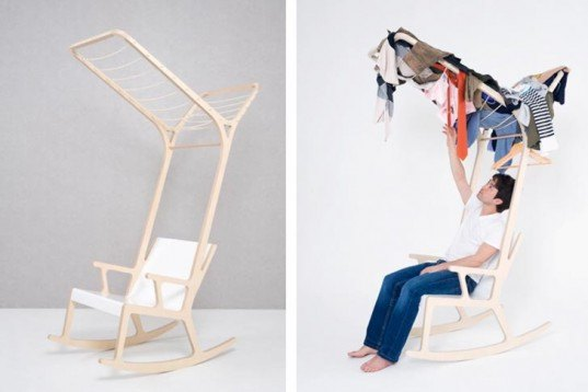 south korean design, multifunctional furniture, multifunctional chair, cocoon, paper lantern, cozy space, birch chair, cloth drying, ladder chair, bookshelf chair, Interactive Objects, green furniture