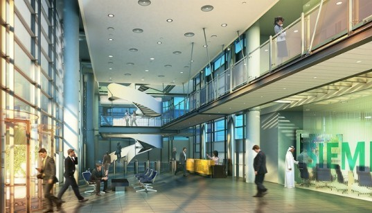 Siemens, Siemens Middle East Headquarters, Sheppard Robson, masdar city, energy efficient design, high performance envelope,