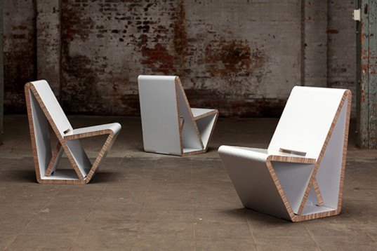 Thonet S Vouwwow Vw01 Is A Flat Pack Recycled Honeycomb
