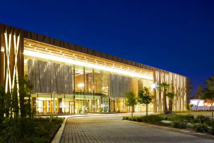 Libya's Stunning Tripoli Congress Center is Protected by a Tree-Inspired Mesh Facade
