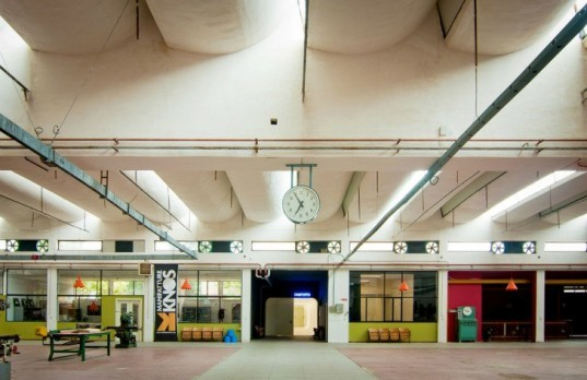 metamor architects, industrial renovation, architecture design, cineporto italy, lecce industrial building design, transformed space