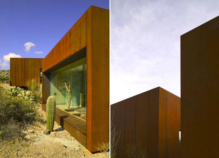 Arizona S Rusted Steel Desert Nomad House Is Surrounded By