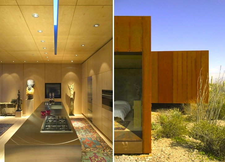 Arizonas Rusted Steel Desert Nomad House is Surrounded by