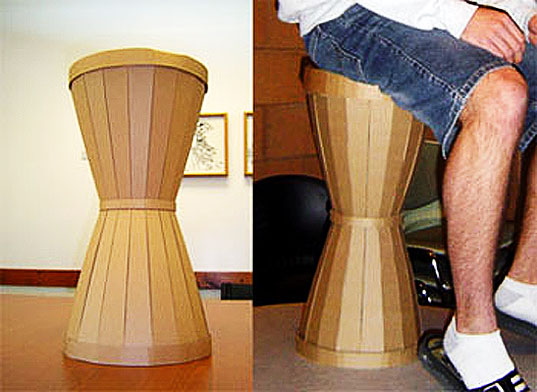 Craft Your Own Cardboard Hourglass Stool With These Easy