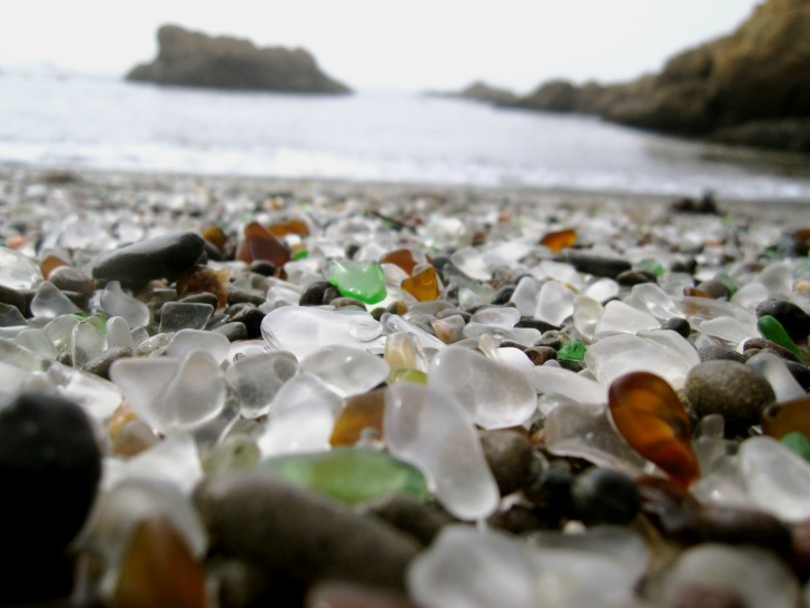 glass beach, fort bragg, california beach, the dumps, dumping ground beach, beach littering, sea power, cleaning power, California State Park System, MacKerricher State Park