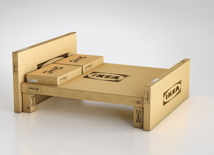 IKEA Transforms its Flat Pack Cardboard Packaging Into Funky Furniture
