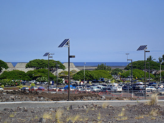 Sepco Installs 32 Solar Powered Parking Lot Lights At The