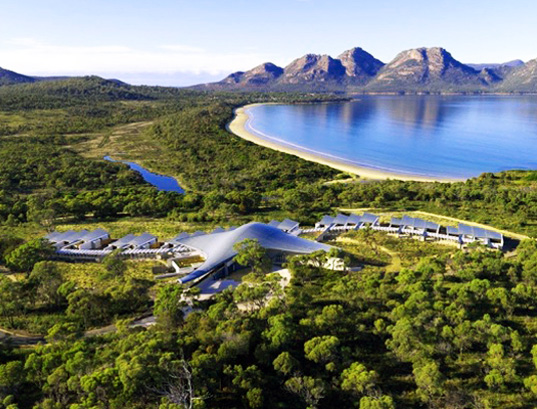 island resorts, island eco-resorts, sustainable island resorts, global island resorts, Saffire Resort, Tasmania