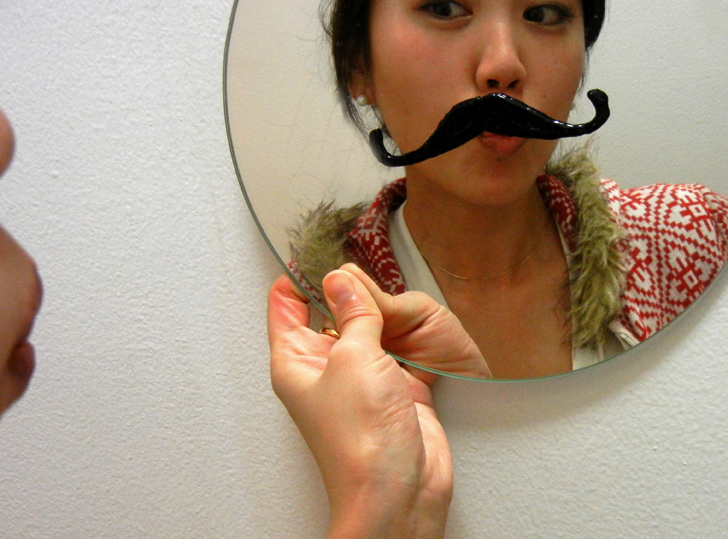 How to make a recycled mustache mirror inhabitat green design innovation solutioingenieria Gallery