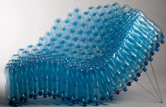 eco bottles, water bottle art, water bottle furniture, recycled furniture, recycled water bottles, water bottle chair, sie43, pawel grunert, water bottle chair, eco furniture, recycled chair, green design, eco design, sustainable design, bottle chair