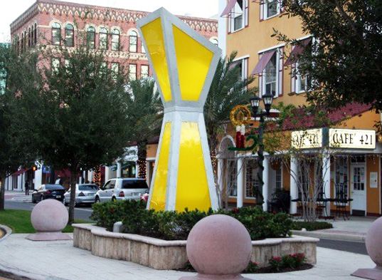 sun-catcher, solar-powered sculpture, Deedee Morrison Sculpture, green design, solar power, solar panels, solar sculpture, sustainable design, clearwater, florida, green lighting, green urban design, solar street light, green pavilion
