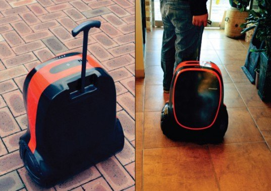 green design, eco design, sustainable design, Jung Inyoung, Kinetic energy, kinetic suitcase, gadget charging suitcase, renewable energy