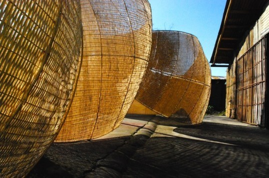 Andrea von Chrismar, Chile, wicker, willow, natural materials, sustainable materials, green materials, natural light, shelter from the sun, green design, eco design, sustainable design, sustainable architecture, wicker, weaving
