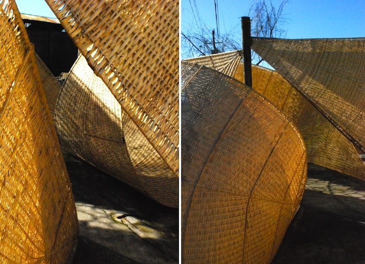 Woven Basket Building : Andrea von chrismar weaves giant structures out of wicker
