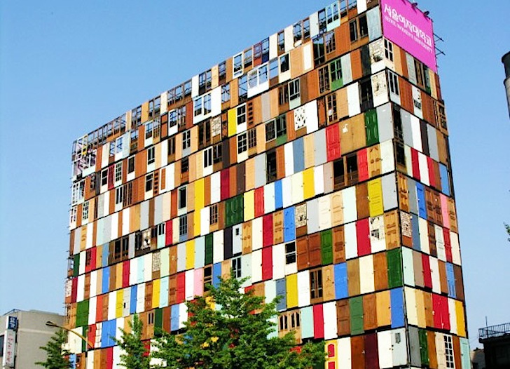 trash to treasure: 6 awesome buildings made of recycled materials