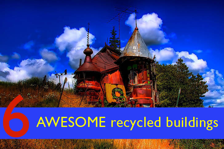 Trash to treasure 6 awesome buildings made of recycled for Salvaged building materials los angeles